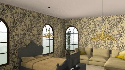 Golden Sleep - Glamour - Bedroom  - by CassW