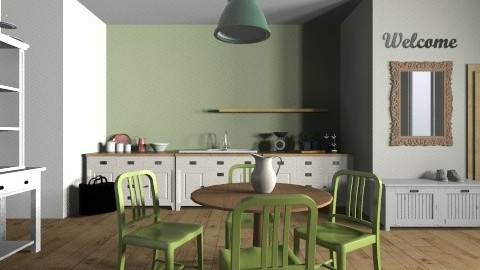 Olive Kitchen - Country - Kitchen  - by toothpastespot