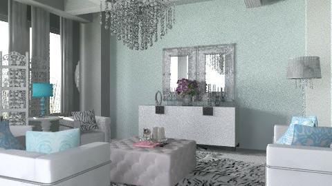 white and blue - Glamour - Living room  - by nene sliver