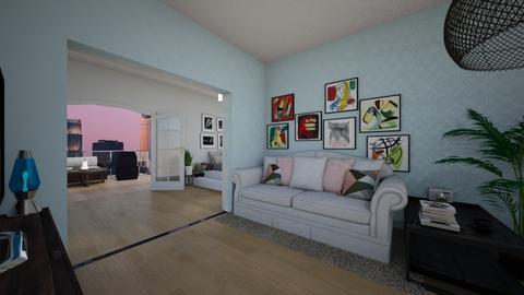 bedroom in the city - Modern - Bedroom  - by sue123456