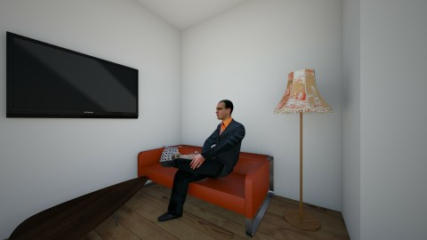 Just Me and my Pug - Retro - Living room  - by toad2housebuilder