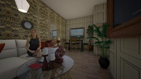 Estilo Propio - Living room  - by Adelinee