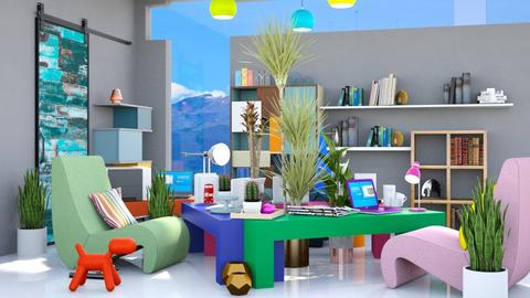 Modern Playful Office - Modern - Office  - by Isaacarchitect