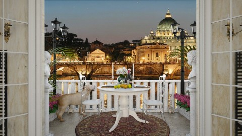 Design 138 Small Balcony Rome - Garden  - by Daisy320