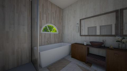 Sleek modern bathroom - Bathroom  - by I_love_my_dog_icecream_and_cookie