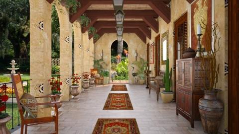 Design 192 Hacienda Hotel - Garden  - by Daisy320