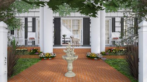 Design 498 Colonial Entrance - Garden  - by Daisy320
