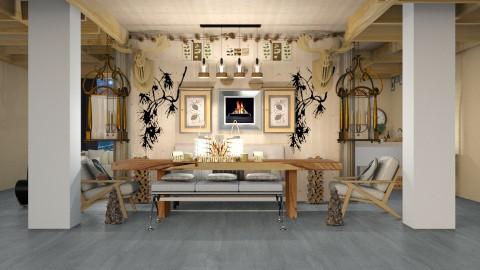Natural Pine - Modern - Dining room - by InteriorDesigner111
