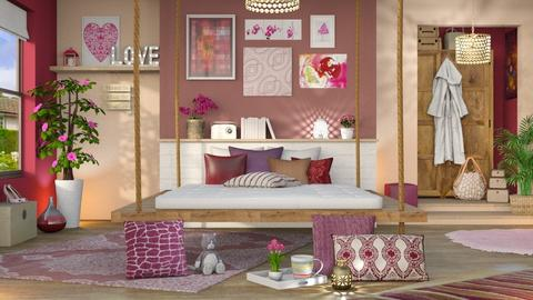 Playful Sleeping - Bedroom - by LB1981