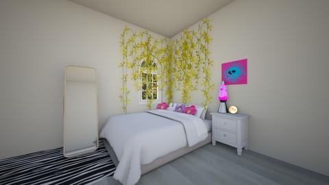 aesthetic room - Modern - Bedroom  - by MillieBB_fan