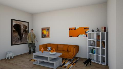 Orange - Modern - Living room  - by damian orozco