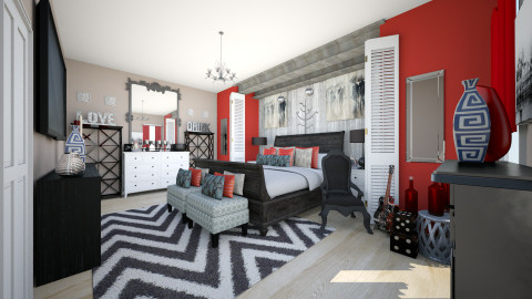 Rocker Chick - Eclectic - Bedroom  - by CreativeCE