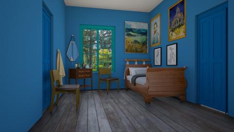 Bedroom in Arles - by milica tanurdzic