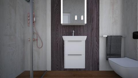 Bagno ospiti legno bianc1 - Bathroom  - by natanibelung
