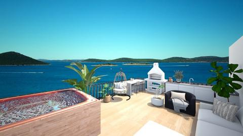 Tropical Rooftop Terrace - by aestheticXdesigns