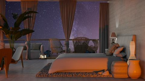 Costal Bedroom_Night - Bedroom  - by KittyT6