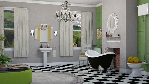 art deco bathroom - Bathroom  - by nat mi