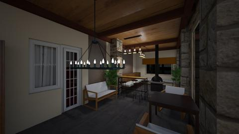 Balkony2 - Rustic - Living room  - by exo0923
