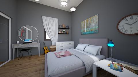 allies actual room - Bedroom  - by allieburnett10
