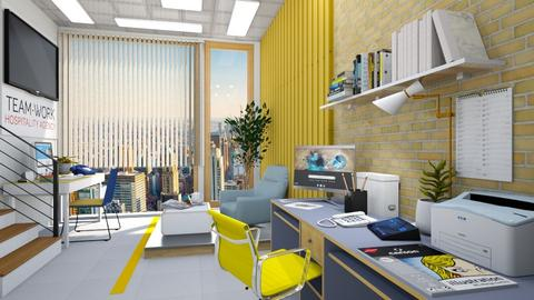 M_Yellow Working Space - Office  - by milyca8