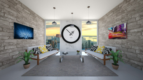 Clock inspired penthouse - by fluffybunny1426