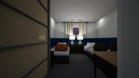Double Cruise Ship Cabin2 - Bedroom  - by SammyJPili