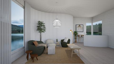 Curved Living - Minimal - Living room  - by SunflowerStudios