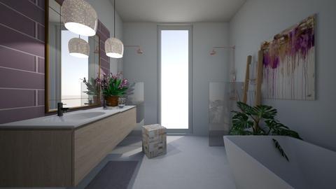 lavender bathroom - Bathroom  - by stephanie delios