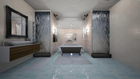 Modern tiled Bathroom - Modern - Bathroom  - by Susan R