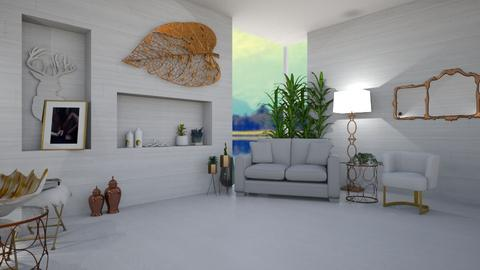 White and Bronze Remix - Living room  - by KittyKat28