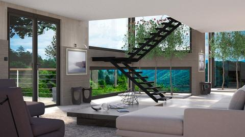 A House in the Woods 5 - Living room - by GraceKathryn