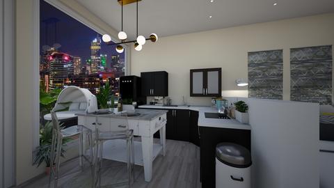 NEW YORK STUDIO kitchen 1 - by dreabaas14