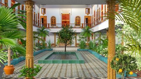 casablanca - Garden  - by marinmarin