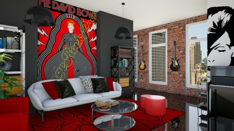 Aladdin Sane - Living room - by Paola Perdomo