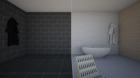 Black and White - Modern - Bathroom  - by hannahelise