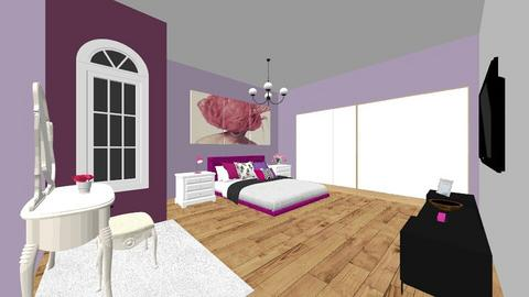 purple and pink - Bedroom  - by marialp99