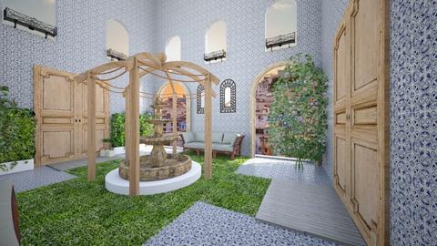 Moroccan Courtyard - Garden  - by hmm22