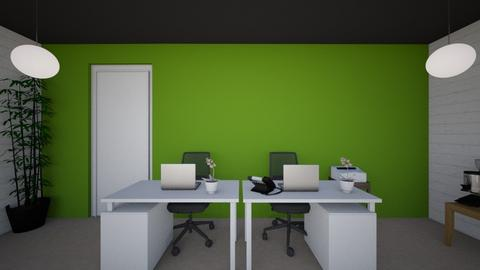 Back wall - Minimal - Office - by mgangles