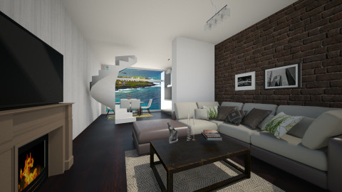 Green living room - Living room - by lokislc