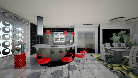 Villa01 - Modern - Kitchen  - by Ida Dzanovic