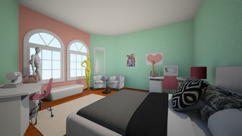 Fashion Designer Dream - Glamour - Bedroom - by pandagirl2102