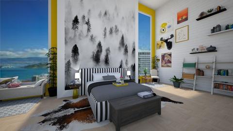 Modern Mist - Bedroom - by guinealove4