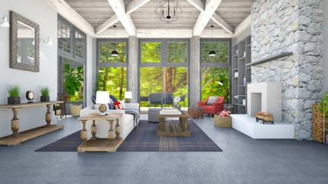 Forest view room - Rustic - Living room  - by Ali Ruth