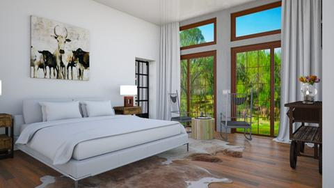 Guest room 1 - Country - Bedroom  - by Amyz625