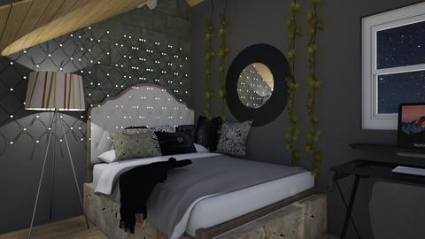 Morden black bedroom - Modern - Bedroom  - by Half l left hand l Right