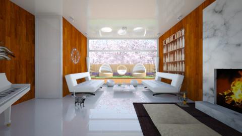 WhiteWood Living Room - Minimal - Living room  - by Tuubz