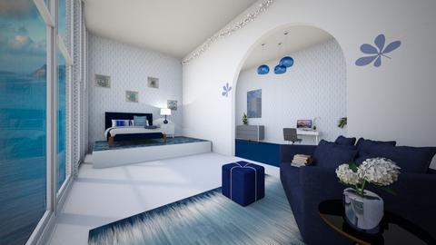Greek Modern Bedroom - Modern - Bedroom  - by TropicalBoho