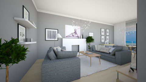 LR for Alma2 - Modern - Living room  - by channing4