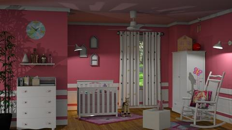 S_Pink Nursery - Kids room  - by Shajia