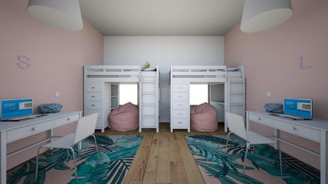 Girl Twin Bedroom - Kids room  - by zuzu54321